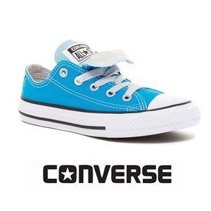 KIDS 13 🆕 Converse Blue Double Tongue Sneaker